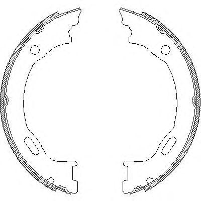 Тормозные колодки ручника REMSA 4707.01