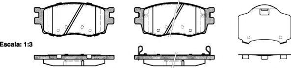 Тормозные колодки REMSA 1208.02