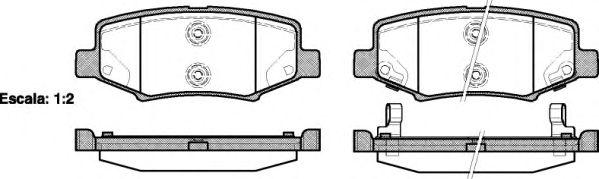 Тормозные колодки REMSA 1264.02