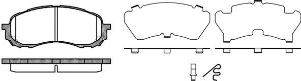 Тормозные колодки REMSA 1081.11