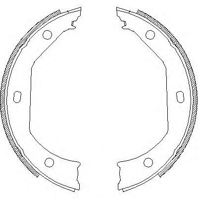 Тормозные колодки ручника REMSA 4716.00