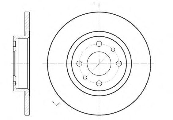Тормозной диск REMSA 6191.00