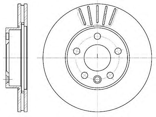 Тормозной диск REMSA 6551.10