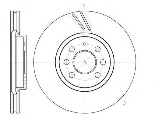 Тормозной диск REMSA 6684.10