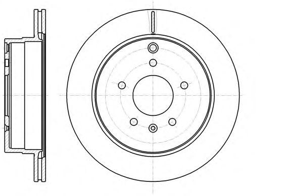 Тормозной диск REMSA 61182.10