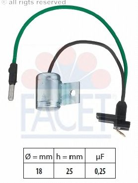Конденсатор зажигания FACET 0.0627