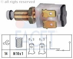 Выключатель фонаря сигнала торможения FACET 7.1009