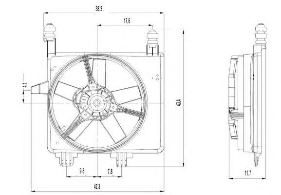 Вентилятор охлаждения NRF 47022
