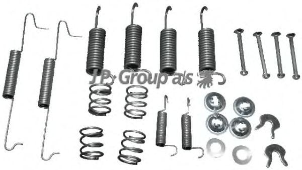 Монтажный комплект тормозных колодок JP GROUP 8164001116
