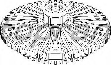 Вязкостная муфта вентилятора охлаждения TOPRAN 111 436