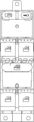 Кнопка стеклоподъемника TOPRAN 112 408