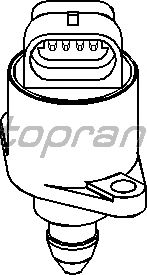 Поворотная заслонка, подвод воздуха TOPRAN 721 460