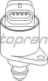 Поворотная заслонка, подвод воздуха TOPRAN 721 458
