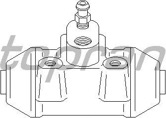 Колесный тормозной цилиндр TOPRAN 720 993