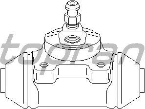 Колесный тормозной цилиндр TOPRAN 721 001