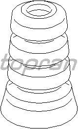 Втулка, листовая рессора TOPRAN 721 802