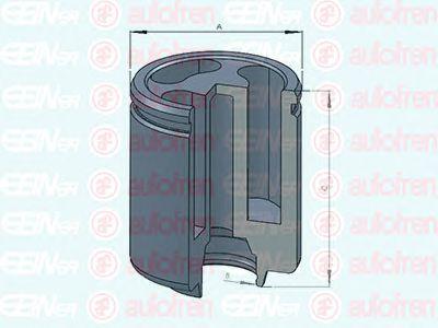 Поршень тормозного суппорта AUTOFREN SEINSA D025234