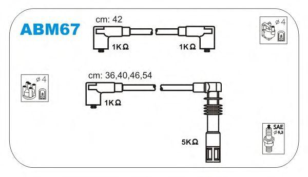 Комплект высоковольтных проводов JANMOR ABM67