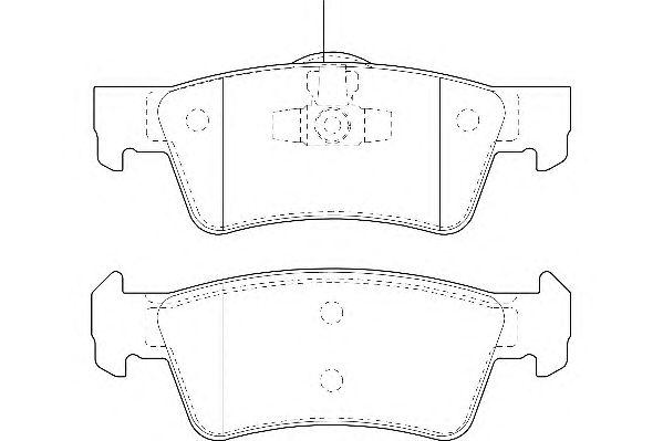 Тормозные колодки WAGNER WBP23467A
