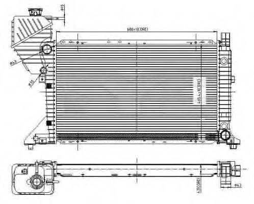 Радиатор, охлаждение двигателя TYC 721-0010