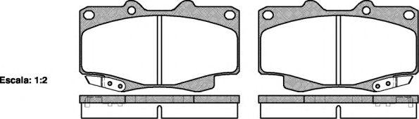 Тормозные колодки REMSA 0315.22