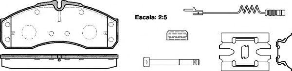 Тормозные колодки REMSA 0651.22