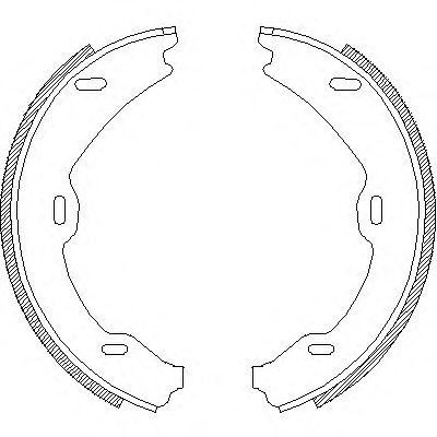 Тормозные колодки ручника REMSA 4706.01