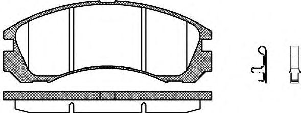 Тормозные колодки REMSA 0354.32
