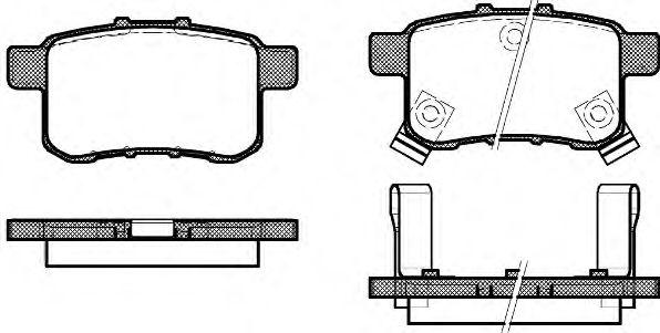 Тормозные колодки REMSA 1332.02