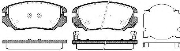 Тормозные колодки REMSA 1385.02