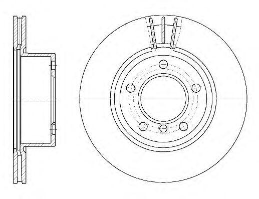 Тормозной диск REMSA 6652.10
