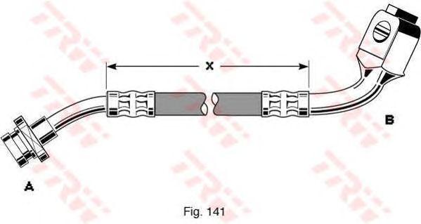 Тормозной шланг TRW PHD287