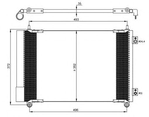 Радиатор кондиционера NRF 35899