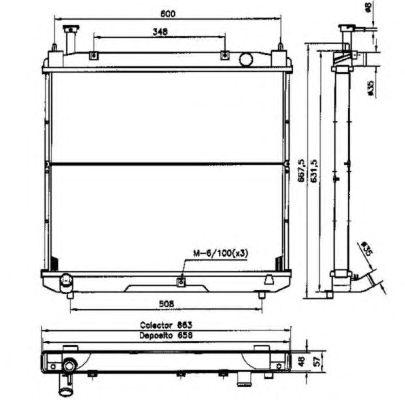 Радиатор, охлаждение двигателя NRF 52068