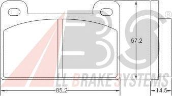 Тормозные колодки A.B.S. 36372