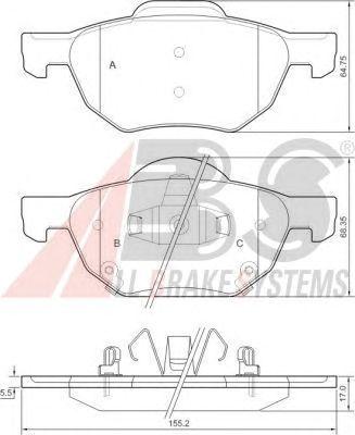 Тормозные колодки A.B.S. 37359