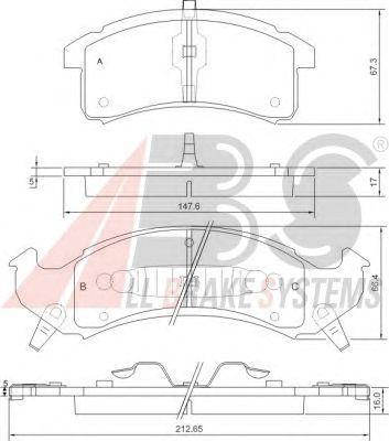 Тормозные колодки A.B.S. 38505