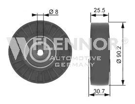 Направляющий / паразитный ролик  поликлинового ремня FLENNOR FU20996
