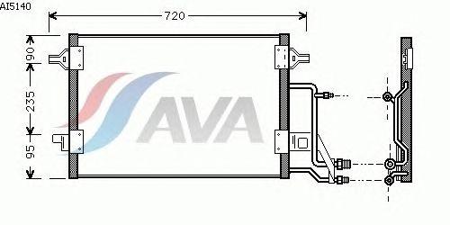 Радиатор кондиционера AVA QUALITY COOLING AI5140