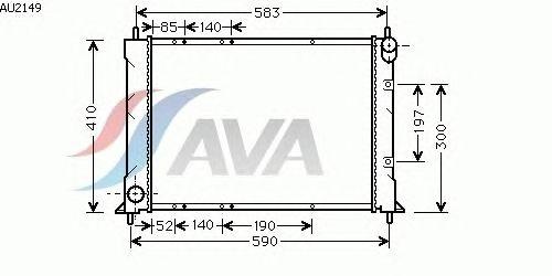 Радиатор, охлаждение двигателя AVA QUALITY COOLING AU2149