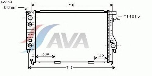 Радиатор, охлаждение двигателя AVA QUALITY COOLING BW2094