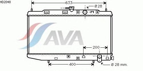 Радиатор, охлаждение двигателя AVA QUALITY COOLING HD2048