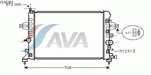 Радиатор, охлаждение двигателя AVA QUALITY COOLING OLA2363