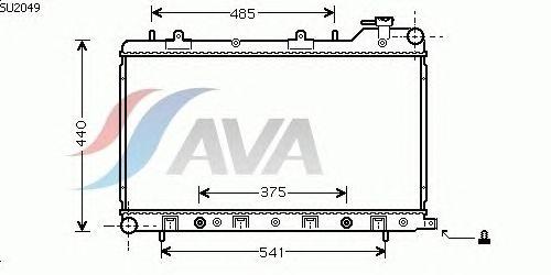 Радиатор, охлаждение двигателя AVA QUALITY COOLING SU2049