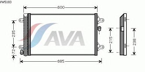 Радиатор кондиционера AVA QUALITY COOLING VW5183