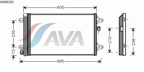 Радиатор кондиционера AVA QUALITY COOLING VWA5183