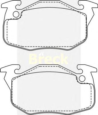 Тормозные колодки BRECK 20905 00 702 10