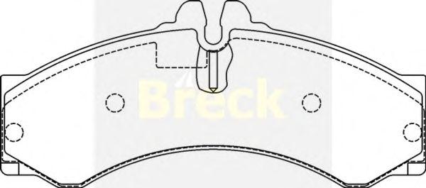 Тормозные колодки BRECK 29076 00 703 10