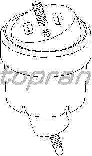 Подушка двигателя TOPRAN 205 165