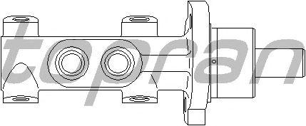Главный тормозной цилиндр TOPRAN 721 058